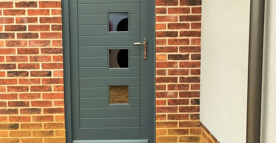 Brick Door Step, timber joinery, Render design, Norfolk.