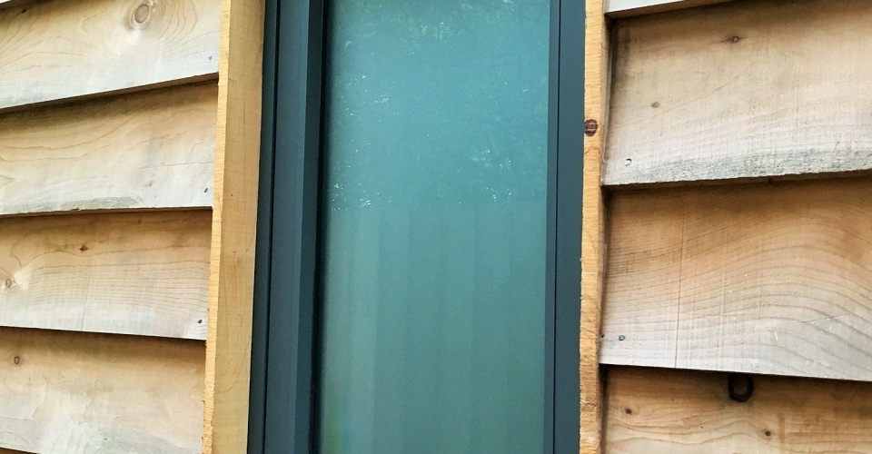 Obscure Window with Featheredge Cedar Norfolk Plans
