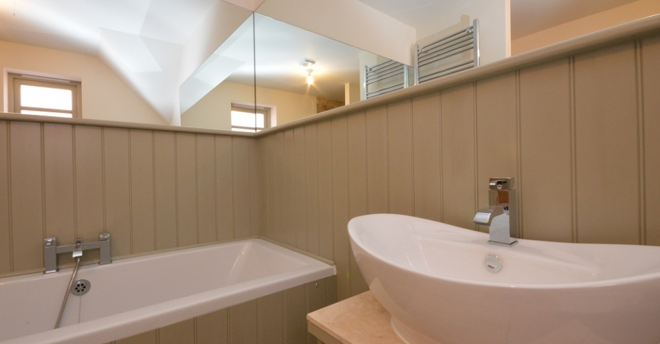 Bathroom in Fakenham North Norfolk home designed by us.