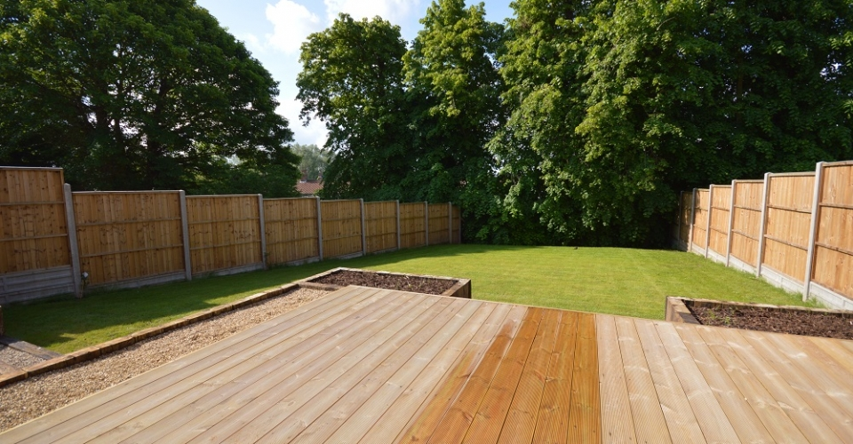 Timber Decking to garden Fakenham
