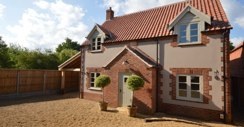 Render and brick home design North Norfolk