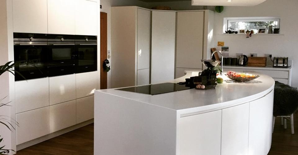 Modern Kitchen Design to open plan home Norfolk